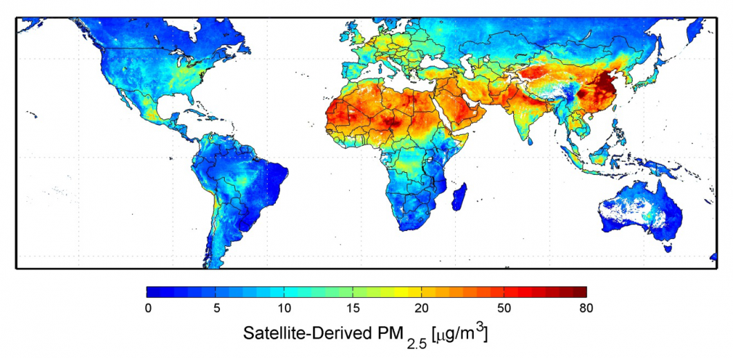 Global PM2.5 Levels – NASA (2012)